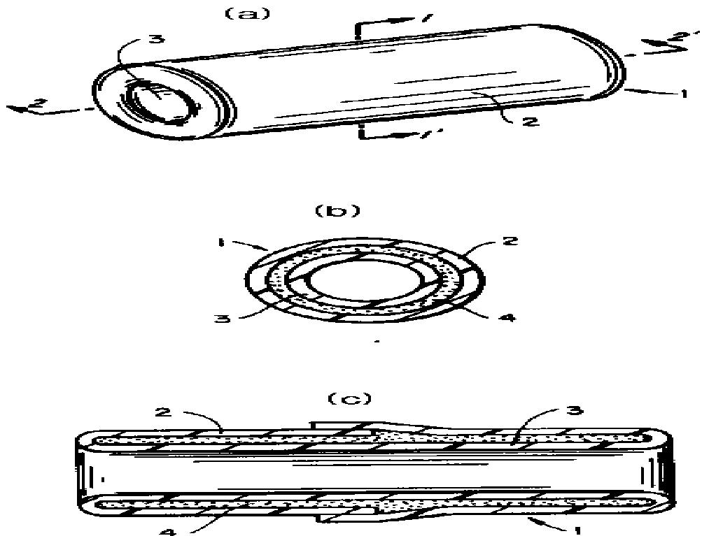 이중벽 구조의 튜브를 갖춘 제품 및 이러한 제품으로 케이블이나 파이프 등의 기판을 피복하는 방법