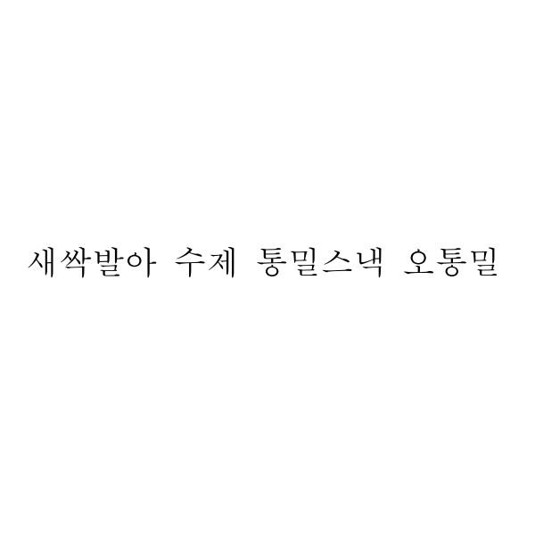 새싹발아 수제 통밀스낵 오통밀